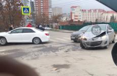 Тройное ДТП в Пензе спровоцировало серьезную пробку