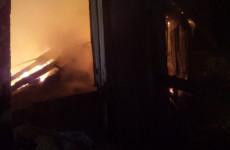 Появились фото с места серьезного пожара под Пензой