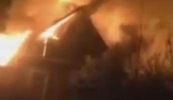 Страшный пожар в пензенской Манчьжурии попал на видео