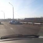 В Пензе иномарка протаранила отбойник на Гагаринском мосту