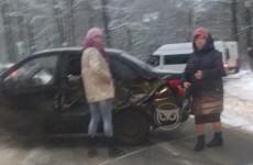 Жесткая авария в Пензе: трактор врезался в легковушку