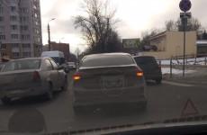 В Пензе несколько улиц парализовало из-за аварии