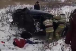 Появилось видео с места страшной аварии в Пензенской области