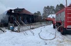 В Пензенской области при пожаре в частном доме погиб мужчина