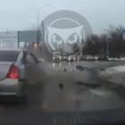 Момент жесткой аварии в центре Пензы попал на видео