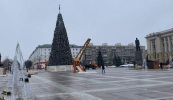 До свидания, Новый год! На площади Ленина разбирают главную елку Пензы
