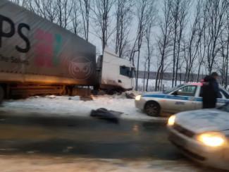 В Пензенской области движение по трассе М-5 ограничено из-за ДТП
