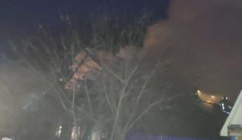 Обнародованы фото с места серьезного пожара в Кузнецке Пензенской области