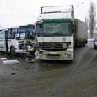 Микроавтобус с пензенскими полицейскими столкнулся с фурой