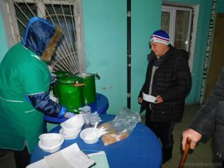 В Пензе организовали горячее питание для бездомных