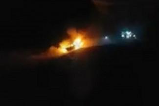На трассе в Пензенской области загорелась машина с детьми