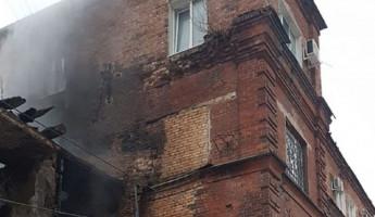 Появилось новое фото с места крупного пожара на улице Гладкова в Пензе