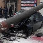 «Страйк». В Пензенской области легковушка снесла три фонарных столба