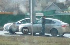 В центре Пензы в аварию угодил автомобиль такси