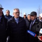 Губернатор проинспектировал строительство детской поликлиники в Спутнике