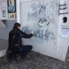 В Пензе закрасили надписи с рекламой наркотиков