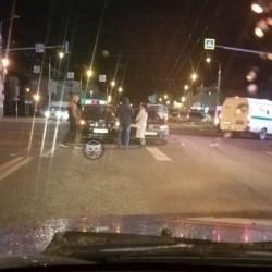 В центре Пензы дорогу не поделили две легковушки