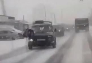 Момент наезда на пешехода в Пензе попал на видео