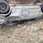 В Пензенской области вылетела с дороги и перевернулась машина