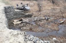 Появились новые фото с места ДТП с перевернувшейся машиной в Пензенской области