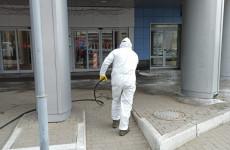 В Пензе продолжается дезинфекция общественных пространств