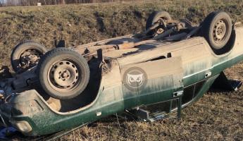 Жесткое ДТП под Пензой: легковушка перевернулась на крышу. ФОТО