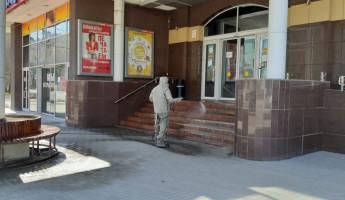 В Пензе продолжается дезинфекция общественных мест. ФОТО