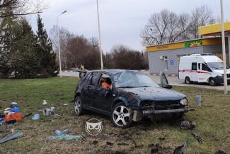 В Пензе произошло серьезное ДТП с фургоном и легковушкой