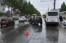 В Пензе проспект Строителей встал в пробке из-за ДТП