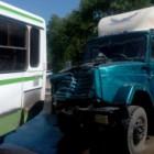 Появилось видео последствий аварии с грузовиком и автобусом на Аустрина