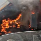 На улице Мира в Пензе вспыхнул «МАЗ»