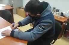 Появилось видео допроса предполагаемого убийцы пензенской школьницы