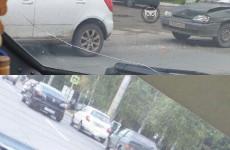 В центре Пензы жестко столкнулись две машины