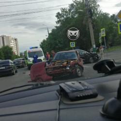 В Пензе произошло жесткое ДТП