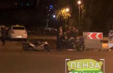В Пензе после полуночи мощно подрезали мотоциклиста