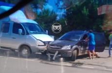 Жесткое ДТП в Пензе: фургон влетел в легковушку
