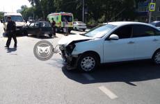 В Пензе произошла жесткая авария с инкассаторской машиной