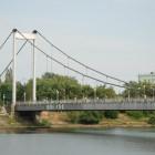 В Пензе подвесной мост покрасят в красный цвет