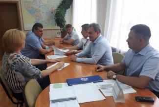 Валерий Лидин встретился с руководством администрации Башмаковского района