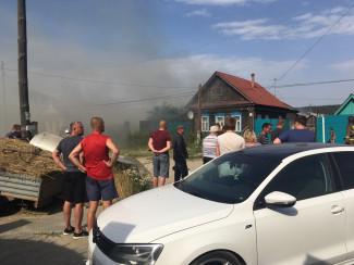 В Пензенской области огонь уничтожил частный дом