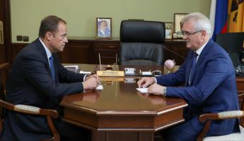 В Пензе прошла встреча Ивана Белозерцева и Игоря Комарова