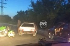 В районе Пензы-2 случилась авария с «девяткой» и мотоциклом
