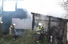 В самом центре Пензы сгорел двухэтажный дом