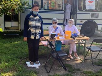 В Пензе «Автобус здоровья» приехал к жителям улицы 8 Марта