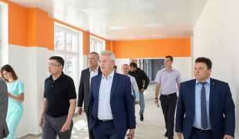 Пензенский губернатор оценил ход строительства школы в Эко-квартале