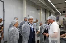 Иван Белозерцев посетил предприятие мясокомбината