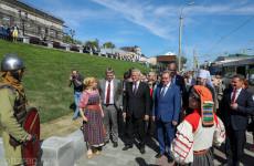 В Пензе открылась прогулочная зона на крепостном валу
