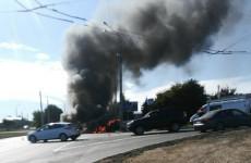 В Пензе на улице Карпинского сгорела машина (фото)