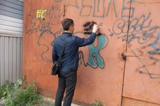 В Пензе закрасили около 40 надписей с рекламой наркотиков
