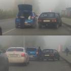 В Пензе улица Измайлова встала в пробке из-за аварии с двумя авто